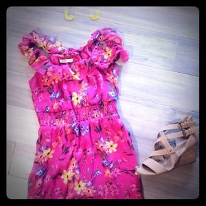 Old Navy pink floral maxi dress